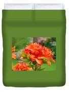 Azaleas Art Home Decor 14 Orange Azalea Flowers Art Prints Greeting Cards Duvet Cover