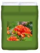 Azaleas Art Home Decor 14 Orange Azalea Flowers Art Prints Greeting Cards Duvet Cover