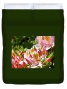 Azaleas Pink Orange Yellow Azalea Flowers 6 Summer Flowers Art Prints Baslee Troutman Duvet Cover
