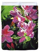Azaleas With Dew Drop Duvet Cover