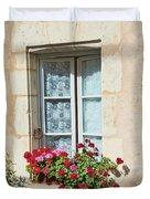 Azay Le Rideau Bridge, Window, Lace Duvet Cover