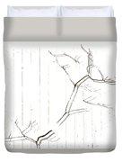 Azelea On White Duvet Cover