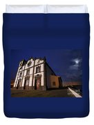 Azorean Church At Night Duvet Cover