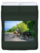 Azorean Farmer Duvet Cover