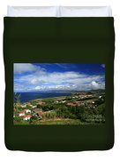 Azores Islands Landscape Duvet Cover