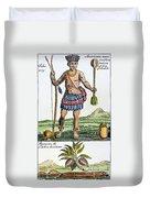 Aztec: Chocolate, 1685 Duvet Cover