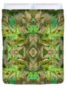 Aztec Kaleidoscope - Pattern 009 - Dark Olive Duvet Cover