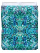 Aztec Kaleidoscope - Pattern 018 - Ocean Duvet Cover