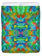 Aztec Kaleidoscope - Pattern 026 Duvet Cover