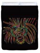 Aztec Skull Warrior Duvet Cover