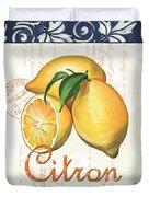 Azure Lemon 2 Duvet Cover