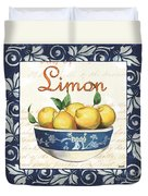 Azure Lemon 3 Duvet Cover