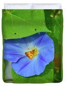 Azure Morning Glory Duvet Cover