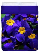 Azure Primrose Duvet Cover