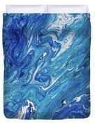 Azure Transfusions Of Ocean Waves Fragment  Duvet Cover