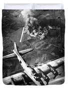 B-17 Bomber Over Germany  Duvet Cover