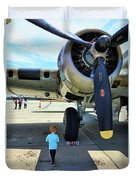 B-17 Engine Aircraft Wwii Duvet Cover