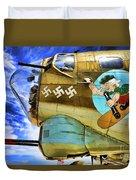 B-17 Paint  Duvet Cover