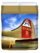 B-17 Tail Wwii Duvet Cover
