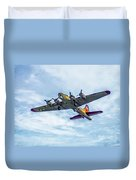 B-17g Flying Fortress In Flight  Duvet Cover