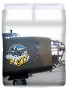 B-24 Nose Art Duvet Cover