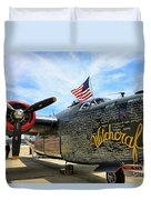B-24j Witchcraft Wwii Duvet Cover