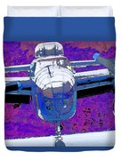 B-25 Blue Purple Duvet Cover