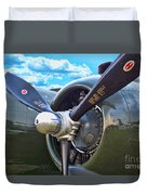 B-25 Engine Duvet Cover