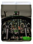 B-25 Mitchell Cockpit Duvet Cover