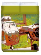B-25 Red B Duvet Cover