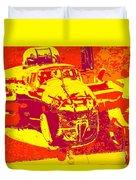 B-25 Red Yellow Duvet Cover