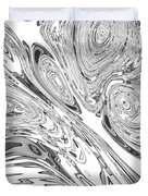 B And W Rendition Of-orion's Belt Vortex  Duvet Cover