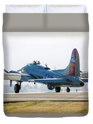 B17 Flying Fortress Cleared For Takeoff At Livermore Duvet Cover