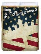 B17 Flying Fortress Vintage Duvet Cover