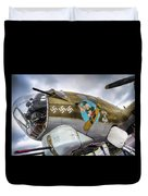 B17 Nine-o-nine Nose Art V2 Duvet Cover