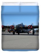 B24 Liberator Start-up At Livermore Klvk Memorial Day Duvet Cover