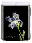 Babbling Brook Iris  Duvet Cover