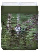 Babcock Wilderness Ranch - Alligator Lake - Heads Up Duvet Cover