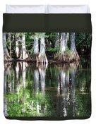 Babcock Wilderness Ranch - Alligator Lake Reflections Duvet Cover