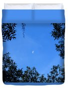 Babcock Wilderness Ranch - Daytime Moon Over Babcock Duvet Cover