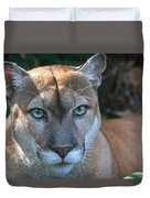 Babcock Wilderness Ranch - Oceola The Panther Pleasantly Peering Duvet Cover