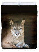 Babcock Wilderness Ranch - Portrait Of Oceola The Panther Duvet Cover