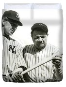Babe Ruth And Lou Gehrig Duvet Cover