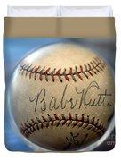 Babe Ruth Baseball. Duvet Cover