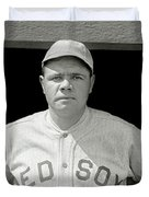 Babe Ruth Red Sox Duvet Cover