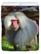 Baboon Stalking Duvet Cover