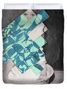 Baby And Squares 2 Duvet Cover