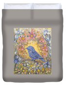 Baby Blue Bird Garden Duvet Cover