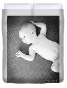 Baby Boy Black And White Duvet Cover