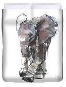 Baby Elephant Study Duvet Cover